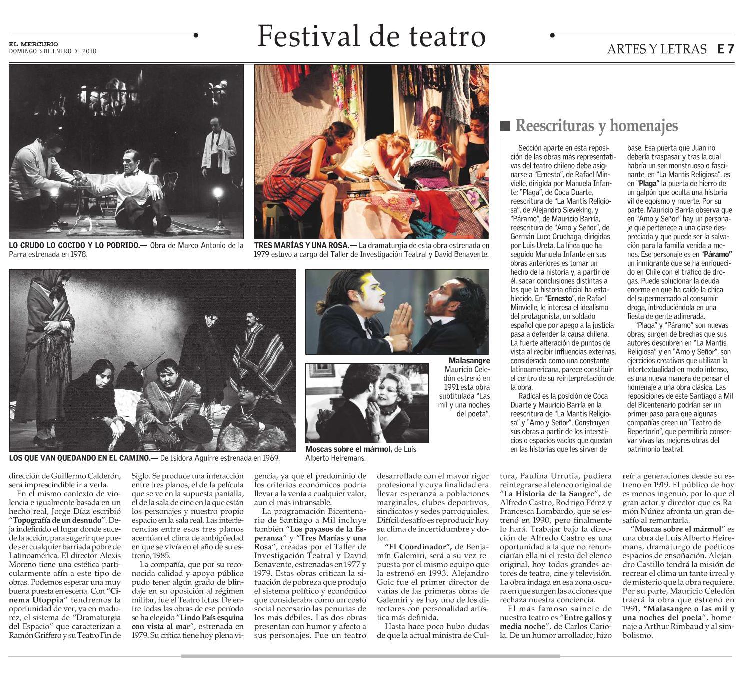 El Mercurio. Artes y letras. 03.01.10. pgE7