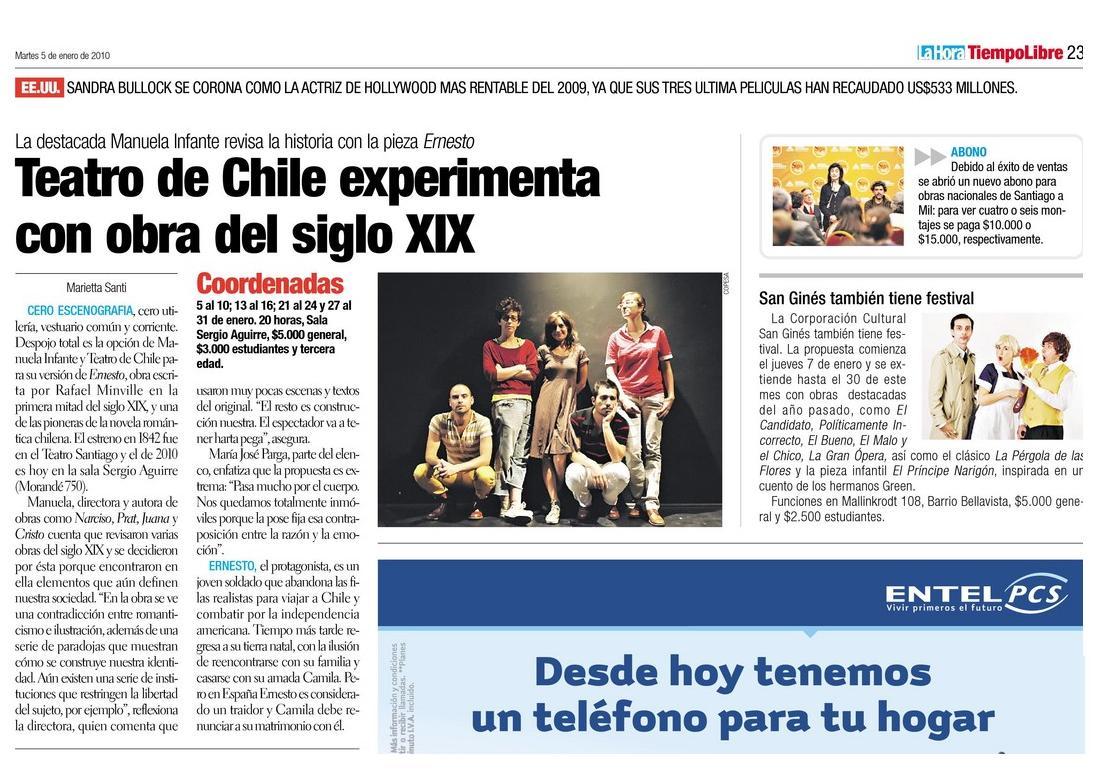 La Hora. Tiempo libre. 05.01.10. pg23