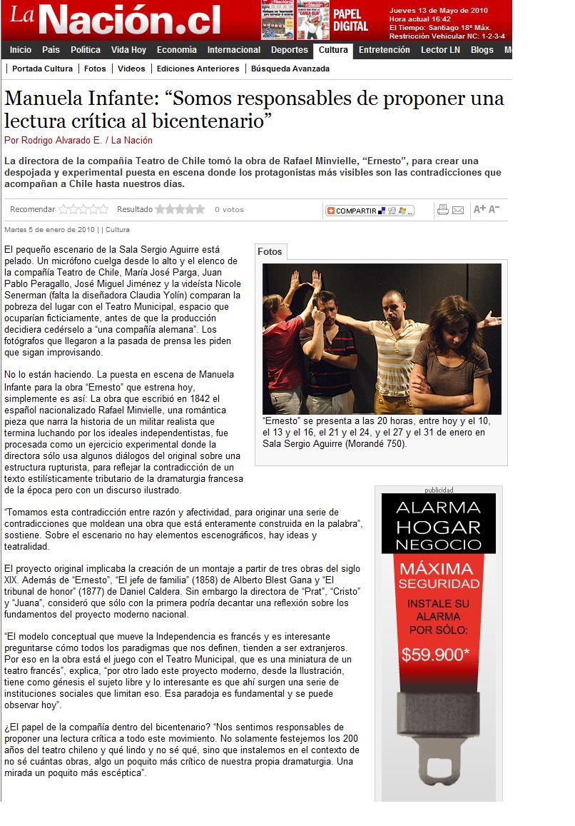 Lanacion.cl. Cultura. 05.01.10